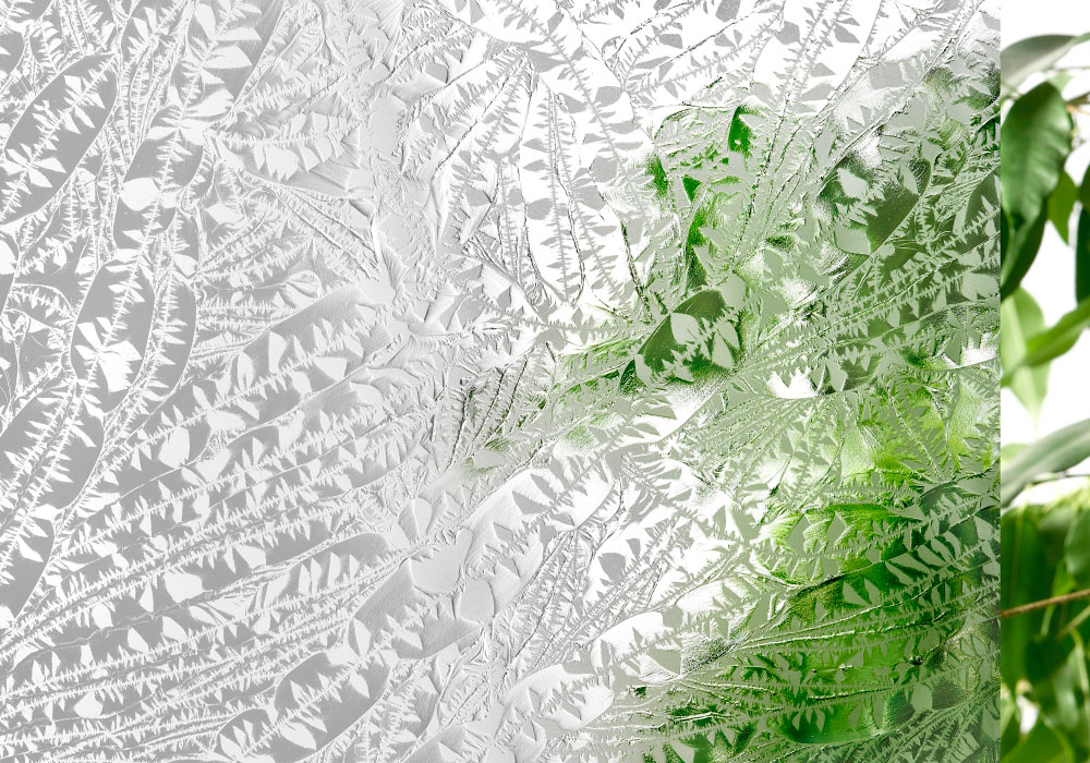 Vitrage Eisblume (Givrée mat) blanc